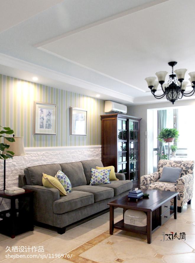 浪漫美式风格家居客厅设计