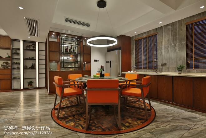 简约风格橙色系餐厅设计