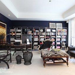 现代风格家居书房装饰图