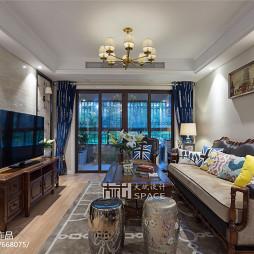 美式风格复式客厅设计