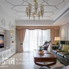 美式风格家居客厅装修效果图