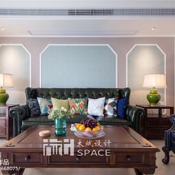 家装美式风格三居室客厅装修