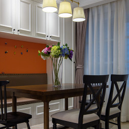 家装美式风格餐厅装饰图