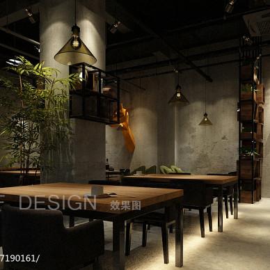 一组工业风酒吧咖啡厅设计_2427246