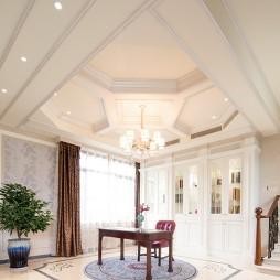 家装美式风格书房效果图
