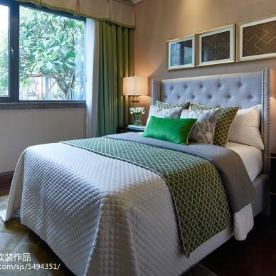 舒适美式风格卧室效果图