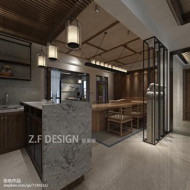 新中式茶馆店面设计 效果图_2433419