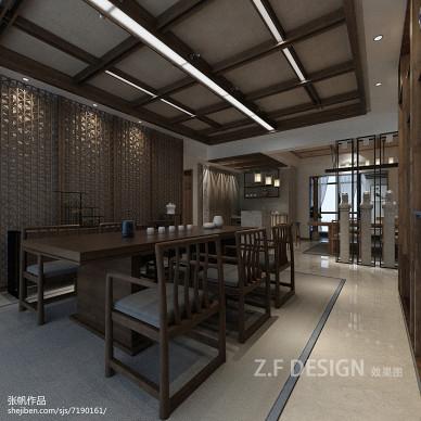 新中式茶馆店面设计 效果图_2433420