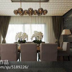 现代风格海景别墅餐厅设计