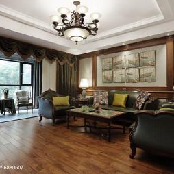 浪漫美式风格客厅装修