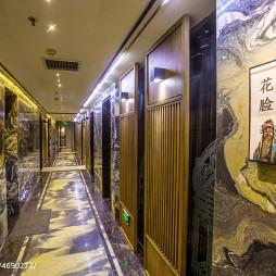 戏剧主题中式餐厅过道装修