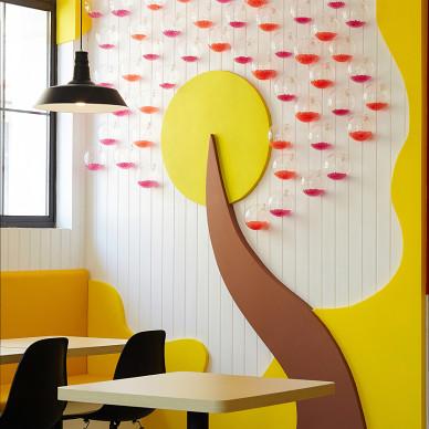 创意餐厅背景墙装修