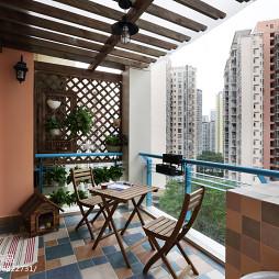 休闲美式风格阳台设计