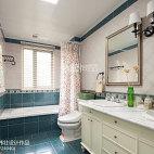 清新美式风格卫浴装修效果图