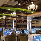 网咖电玩城游戏区座位布置