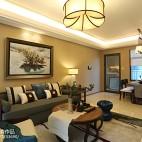 家装中式风格客厅设计案例