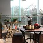 中式风格三居室阳台设计