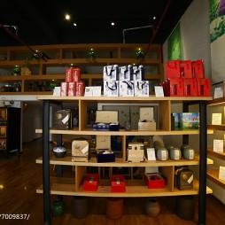 新中式茶艺馆展示架设计