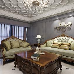 轻奢美式风格客厅装修