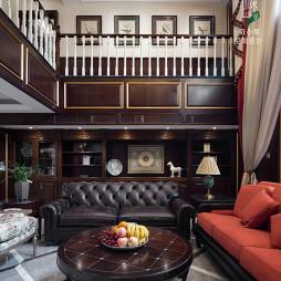大气美式风格复式客厅设计