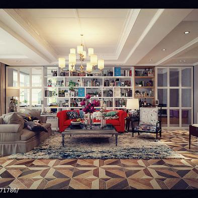 美式兼搭法式观景卫生间-北京室内设计师王怡琳作品_2447841