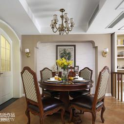 家装美式风格别墅餐厅装修