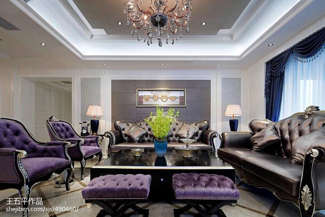 家装新古典风别墅客厅设计