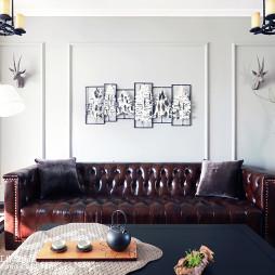精致美式风格客厅布置