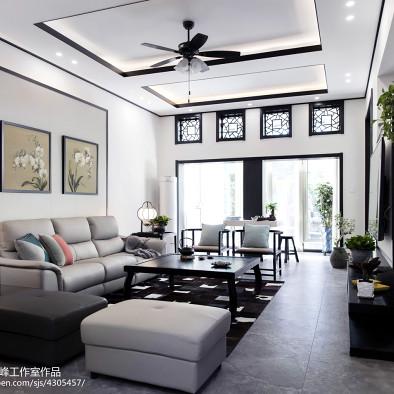 中式韻味客廳設計效果圖