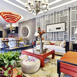 古典中式风格别墅客厅装修