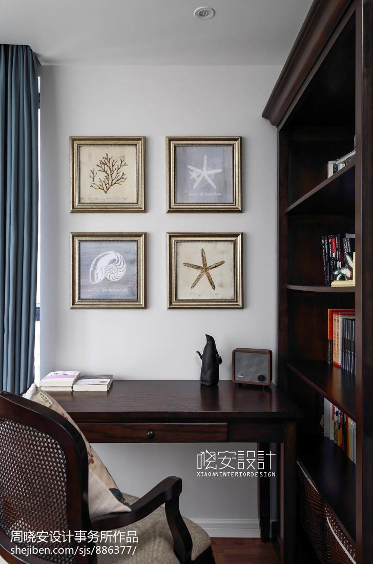 美式风格迷你书房设计