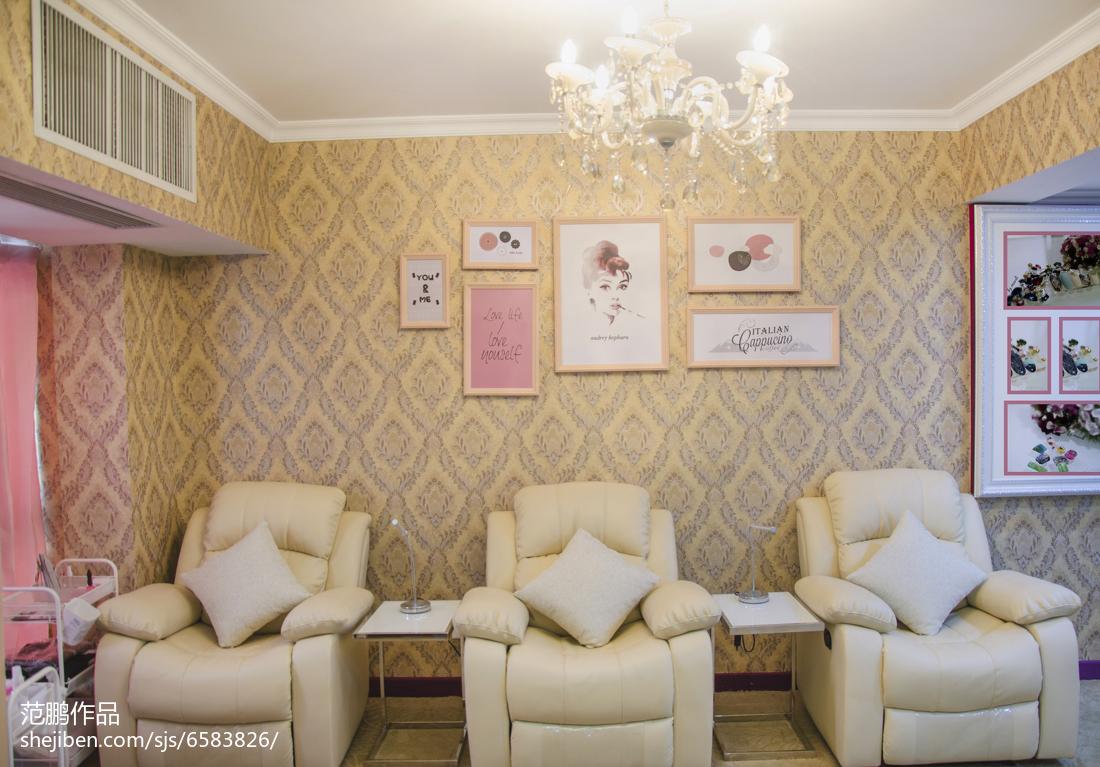 安娜宝贝美甲店照片墙装修