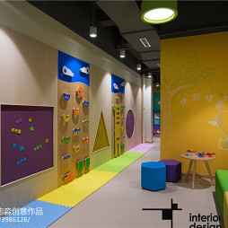 新爱婴儿童早教中心墙面装饰