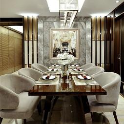 豪华混搭风格豪宅餐厅设计