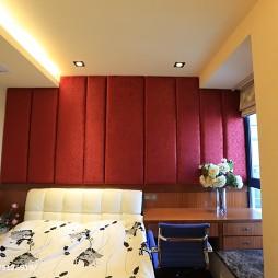 现代中式三居室卧室效果图