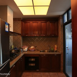 家装中式风格厨房效果图