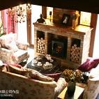 复古美式风壁炉装修