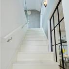 纯白北欧风楼梯效果图