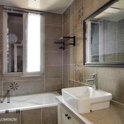 简单美式风格卫浴设计