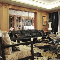 豪华混搭风格客厅装修