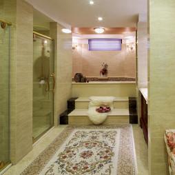 温馨欧式格调别墅卫浴布置