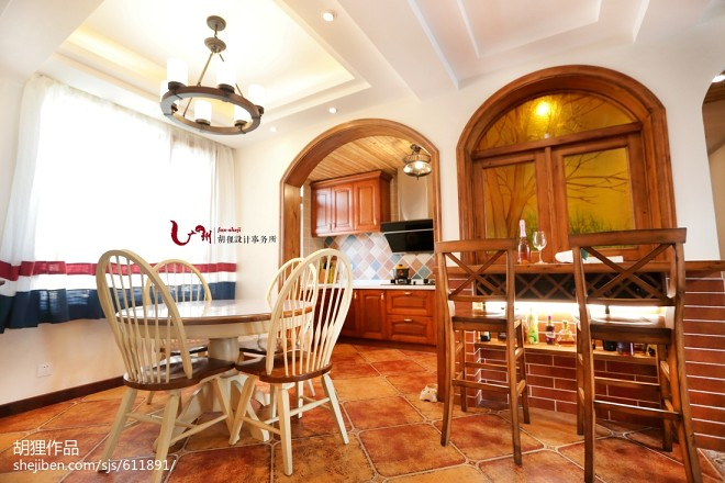 美式乡村风格复式餐厅设计案例