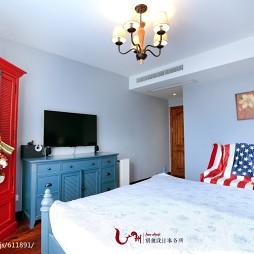 家装美式乡村风格卧室装饰图