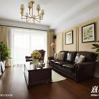 简雅美式客厅设计效果图