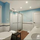 美式风格海蓝色卫浴装修