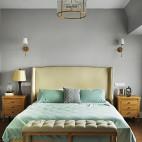 质朴美式风格卧室效果图