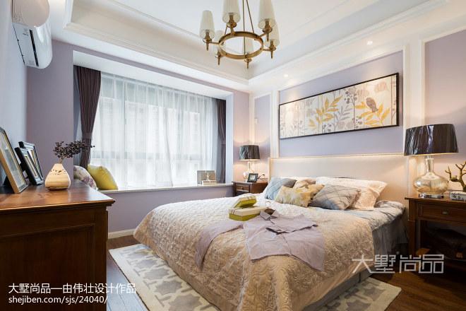 优雅美式卧室设计效果图