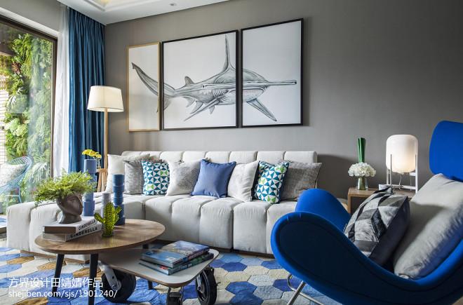 静谧现代风格客厅装修案例