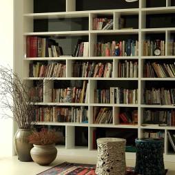 北欧风格别墅书架设计
