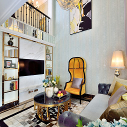 时尚新古典风格客厅设计